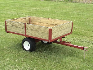 single axle lawn and garden cart