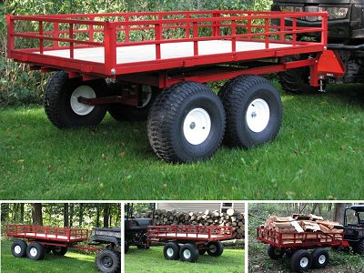 Side By Side Atv >> ATV Trailers | Off-road Trailers, Carts and Wagons - Made in The USA by Country ATV.