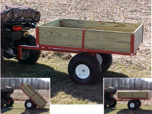single axle ATV cart